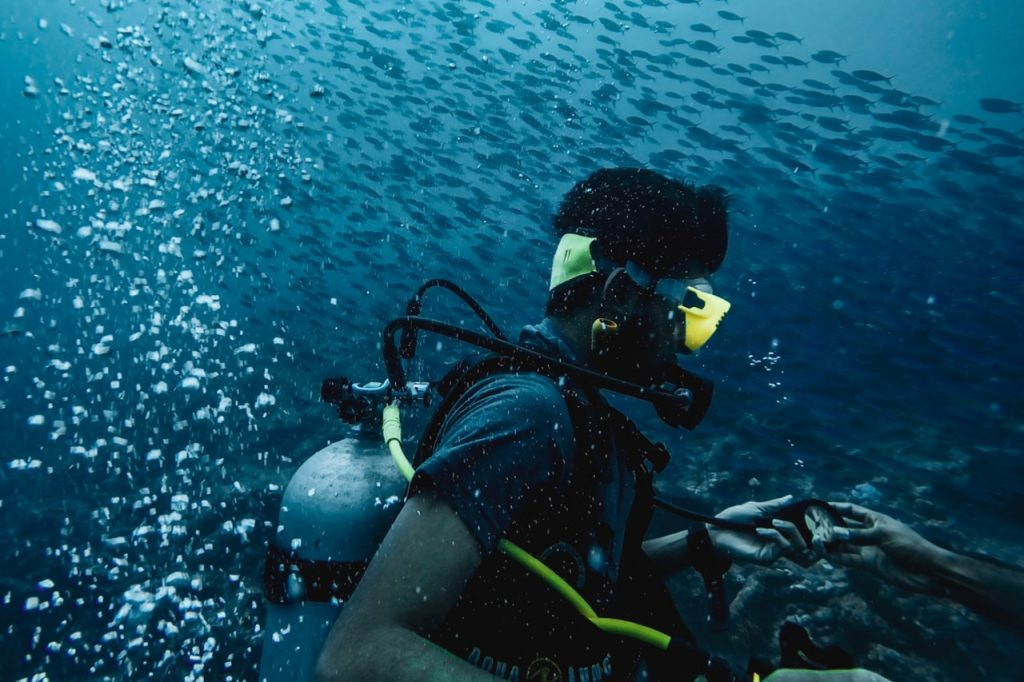 scuba diver in andamans