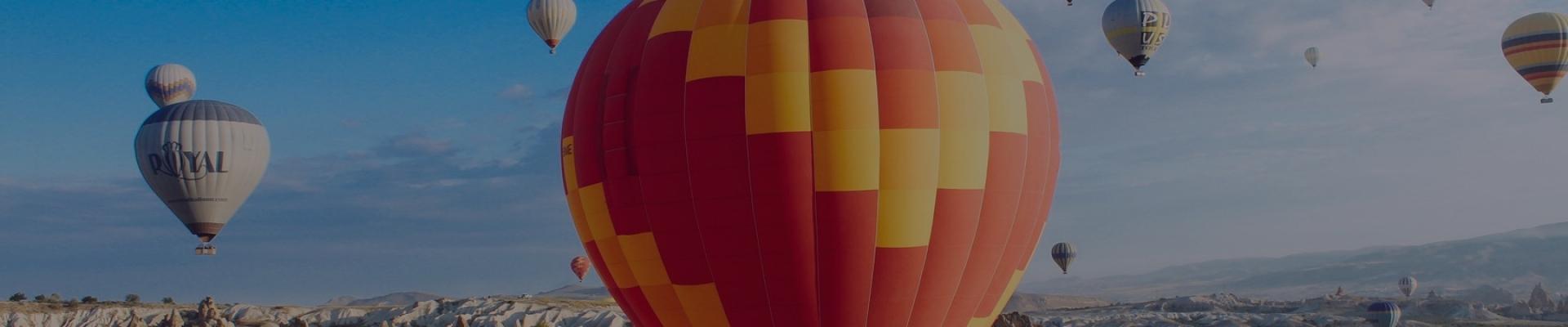 Hot air ballooning in Pushkar, Rajasthan, India