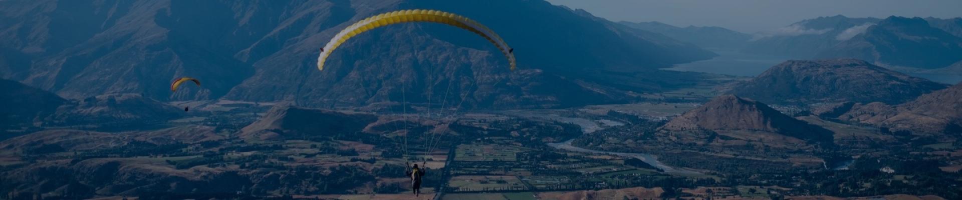 Paragliding in Solang, Himachal Pradesh, India
