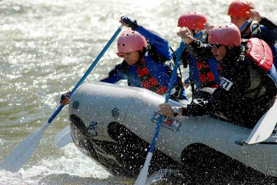 Rafting in Maharashtra, India