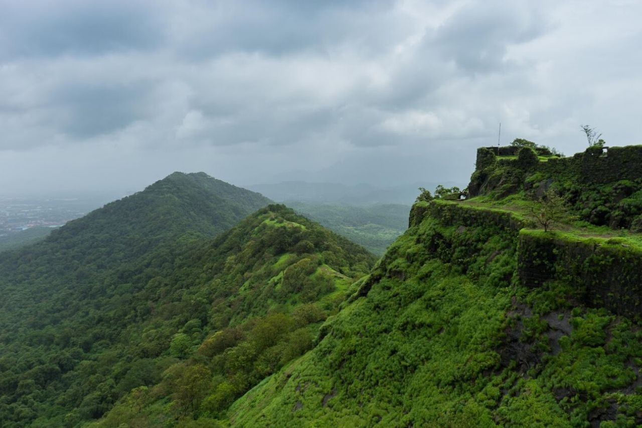 Ancient fort covered with greenery
