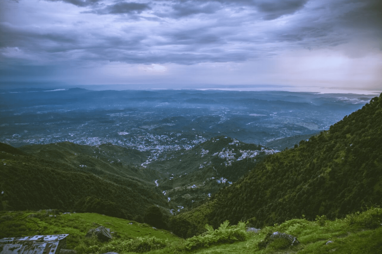 Dusk falls on the city of McLeodganj.