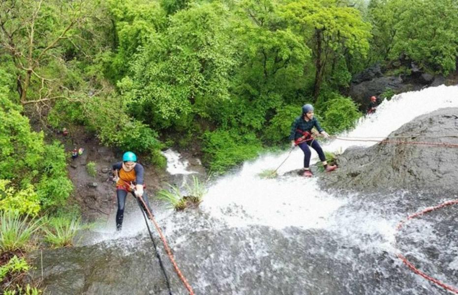 Kondana Cave Waterfall Rappelling (Ex Pune)