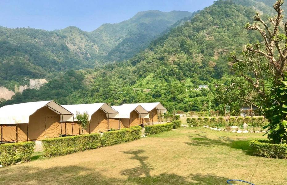 Riverside camping in Swiss tents (1N/2D)