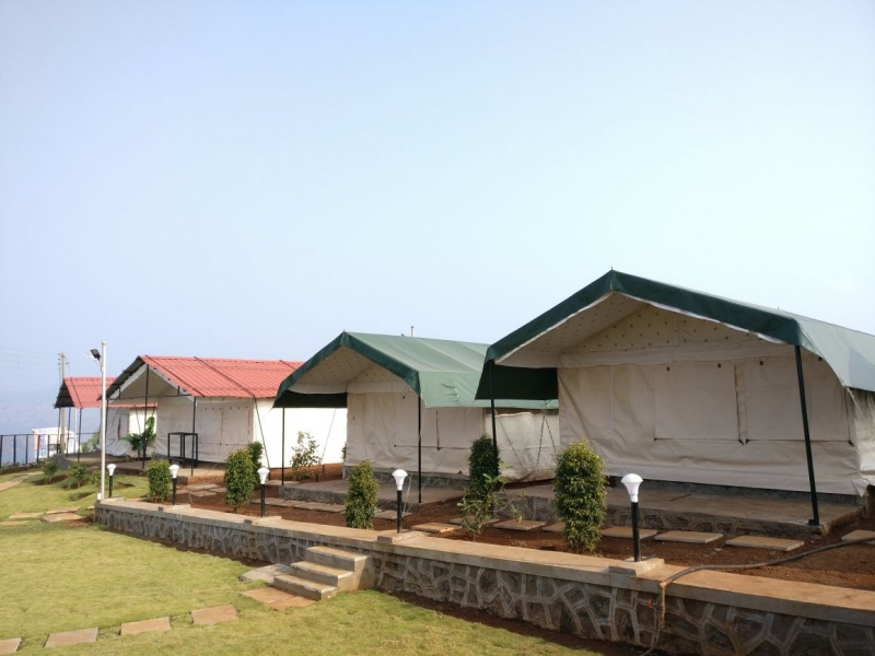 Swiss tent camping in Bhor