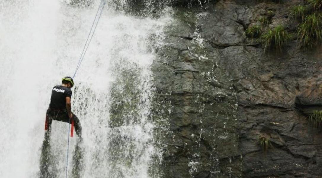 Dudhiware Waterfall Rappelling + Lohagad Trek
