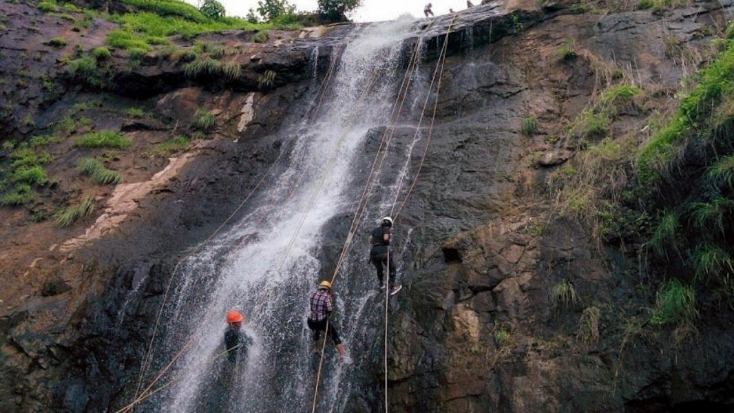 Waterfall Rappelling at Bhivpuri
