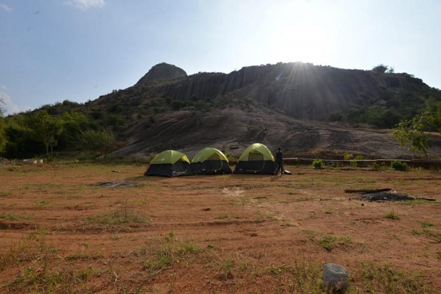 New Year camping at Ramanagara