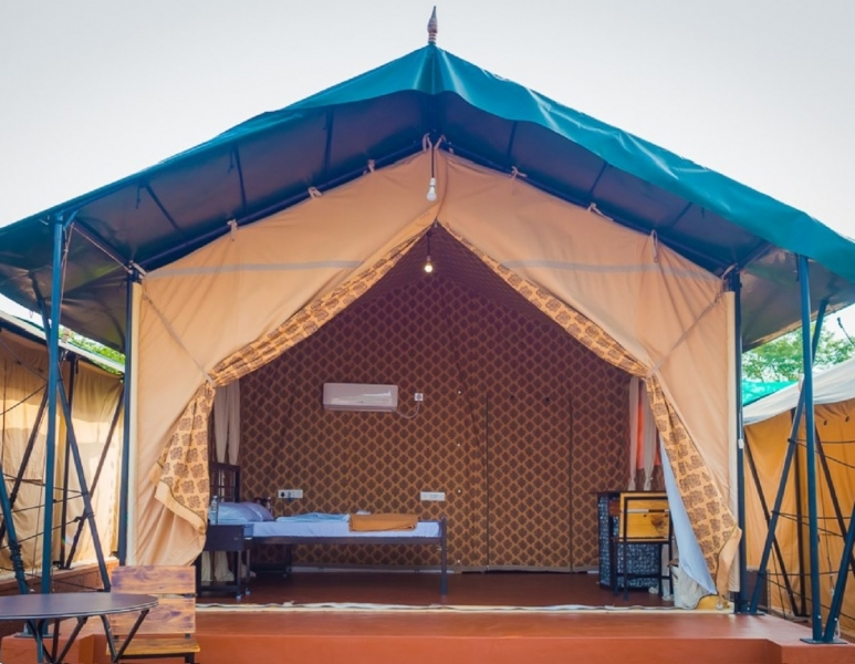 Swiss tent camping in Mysore