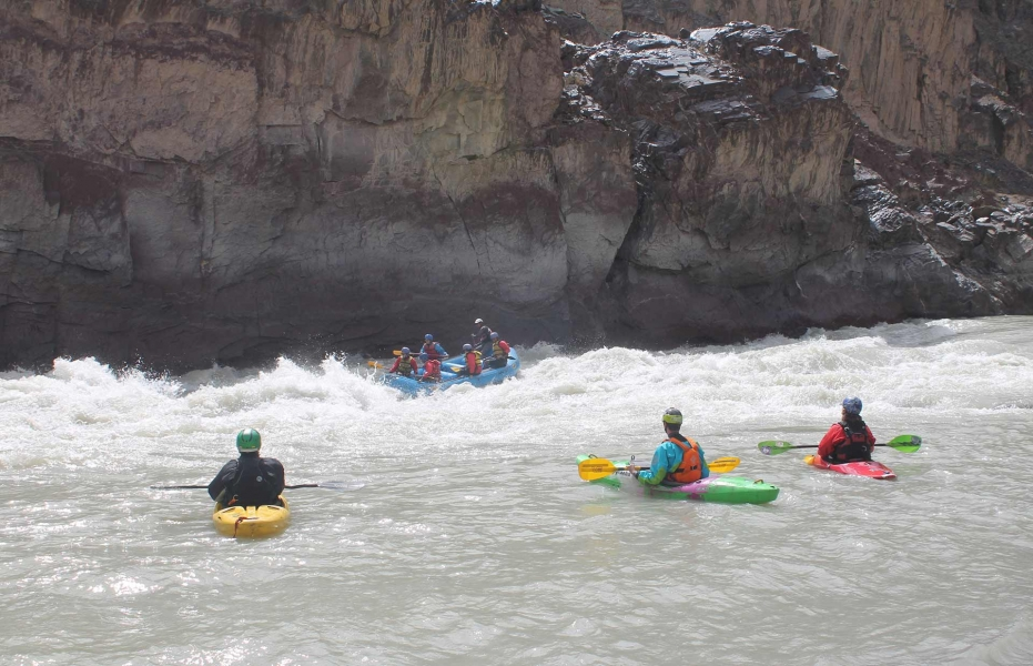 Rafting from Scorpoche to Nimmo on the Zanskar river