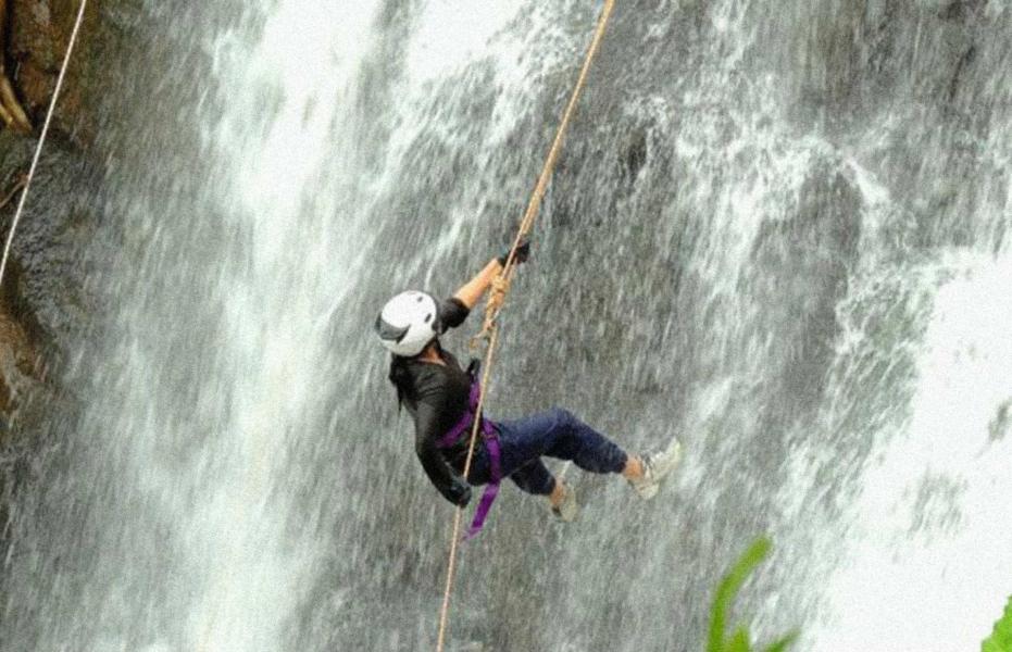 Dodhani waterfall rappelling and ziplining at Panvel