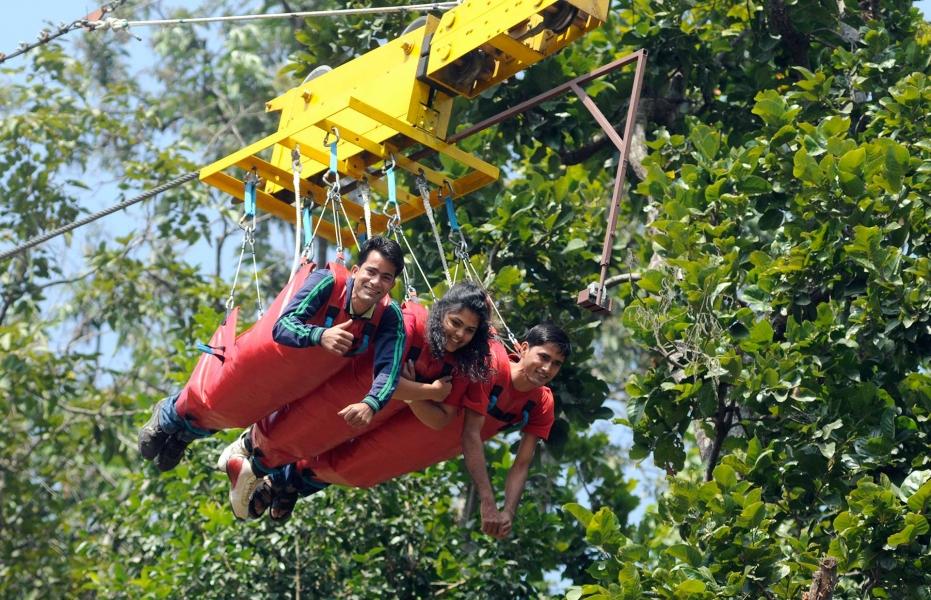 Flying Fox in Rishikesh