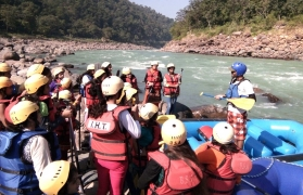 Riverside camping adventure in Rishikesh