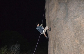 Ramanagara midnight rappelling and trek