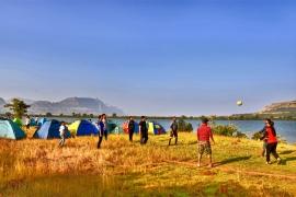 New Year lakeside camping at Khireshwar