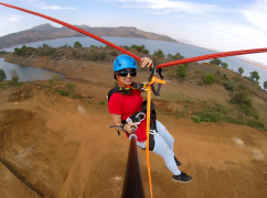 Human catapult+Jumbo adventure at Pavna