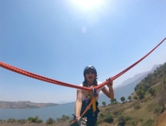 Human catapult+Tent camping at Pavna