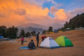 Dome tent camping in Chopta (1n2d)