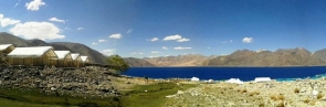 Camping at Pangong Lake