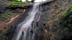Waterfall Rappelling at Bhivpuri