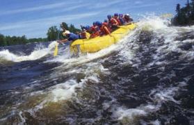 Weekday white-water rafting in Kolad