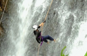 Dodhani waterfall rappelling and ziplining at Panvel