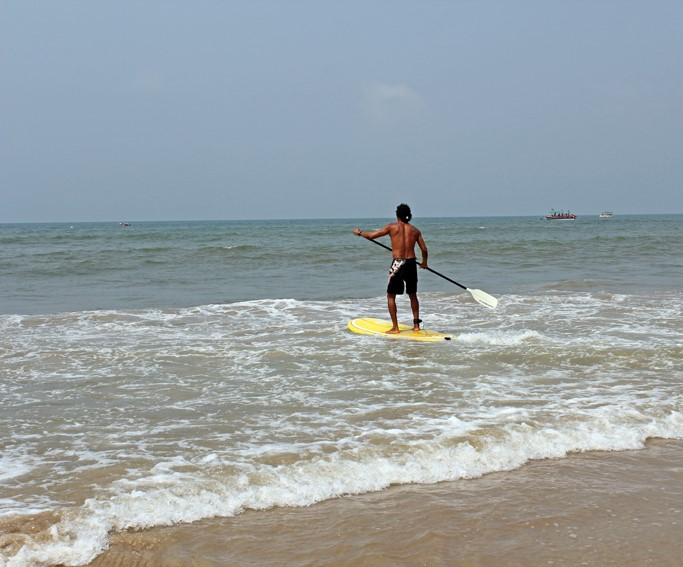 Stand Up Paddle Boarding Goa Beach Adventure Nature Sea