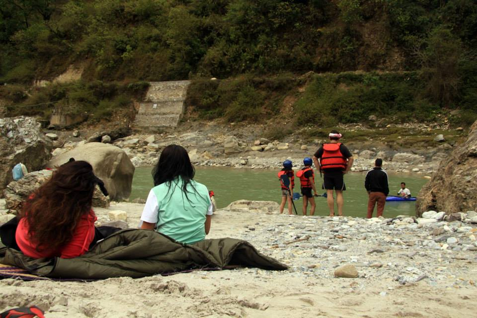 Camping Riverside Ganges Rafting Kayaking Nature Kumaon Uttarakhand