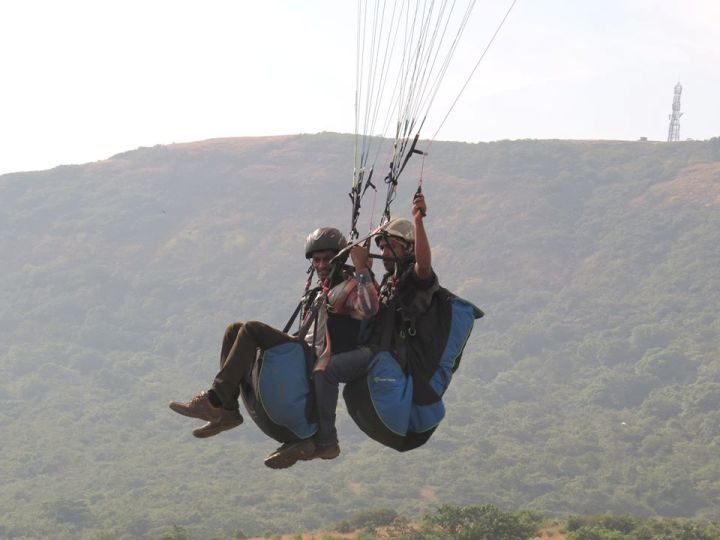 Tandem Classic Paragliding Kamshet Lonavala Mumbai Pune Adventure
