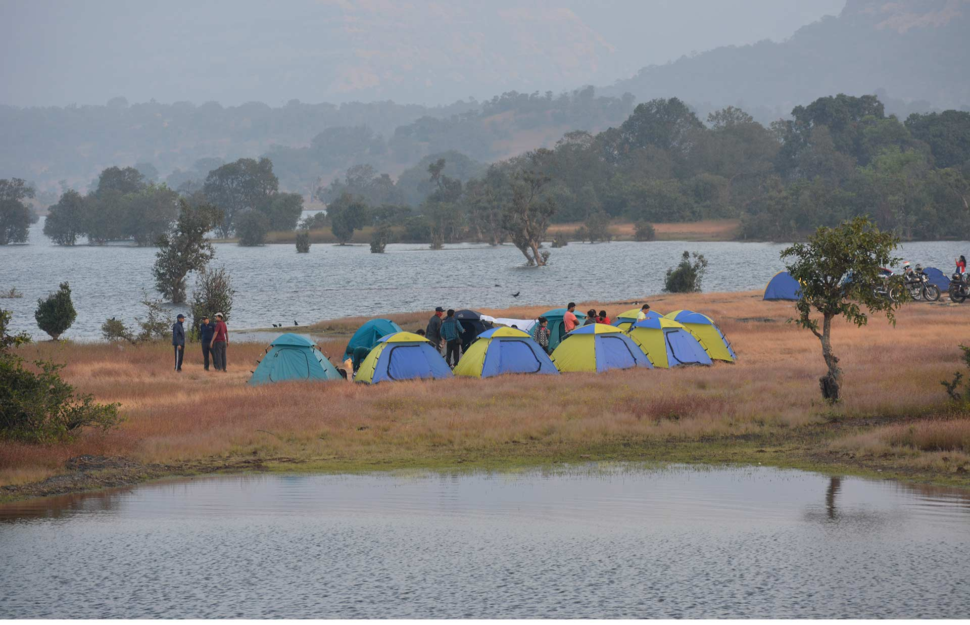 Camping Maharashtra Offbeat Campsite Tents Nature Trail Bhandardara