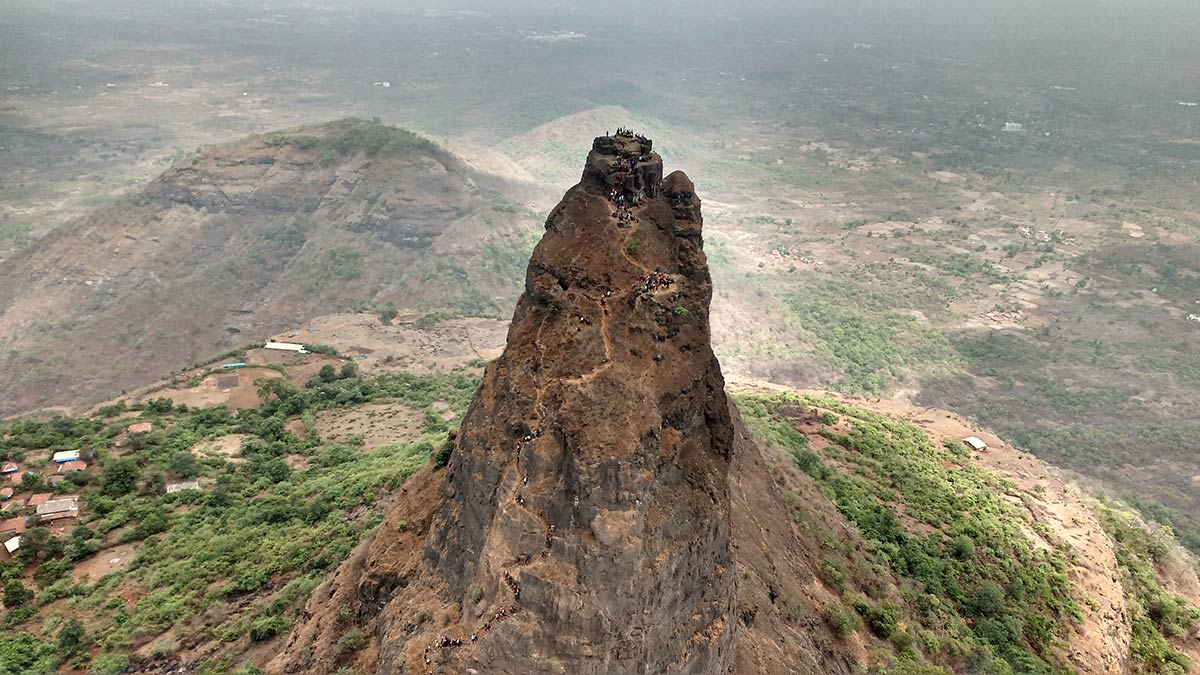 Kalavantin Fort Trek Maharashtra Panvel Monsoon Trekking Hill Mountains Sports Activities Adventure