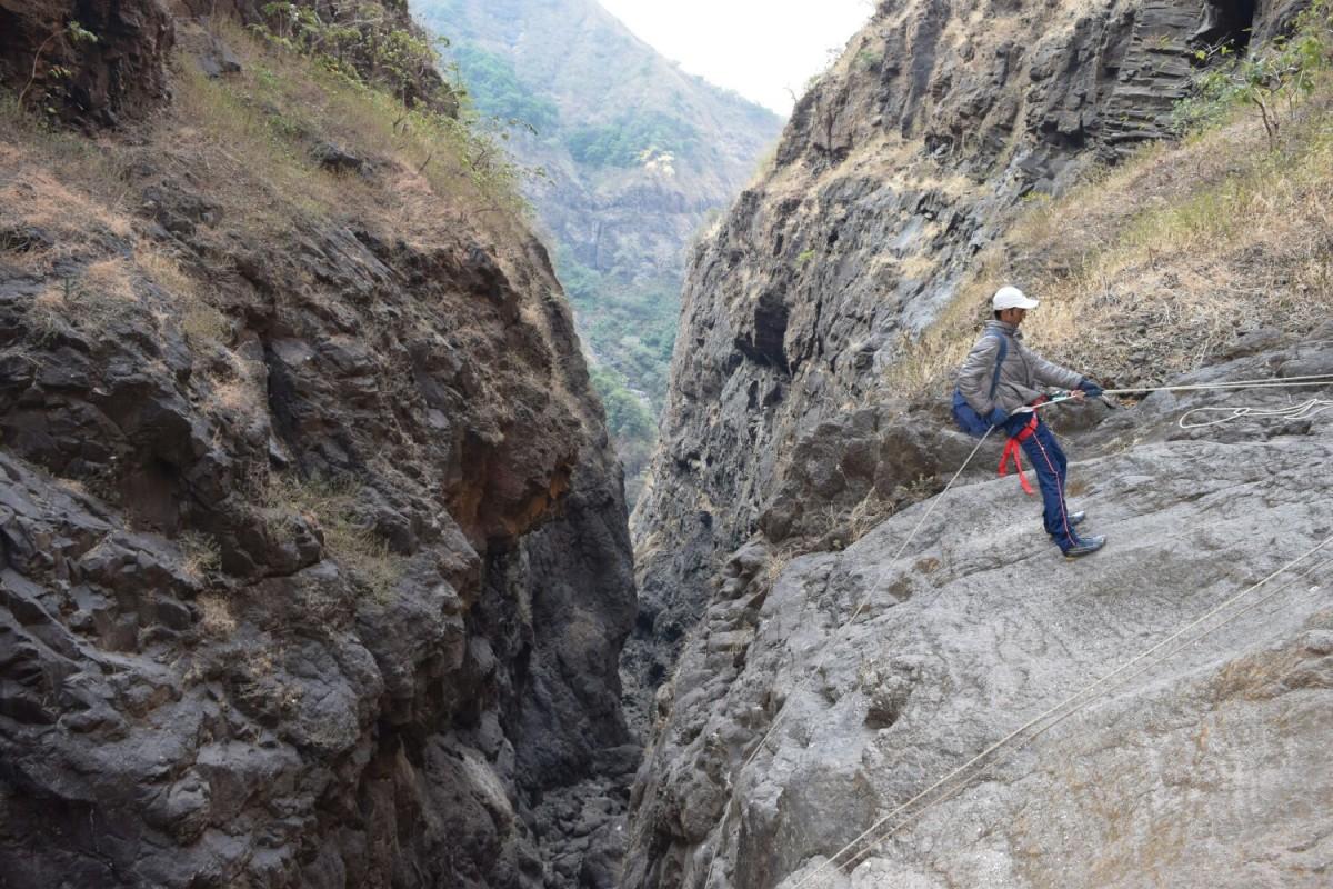 Sandhan Valley Trek Camping Maharashtra Sahyadris Rappelling Bonfire The Great Next