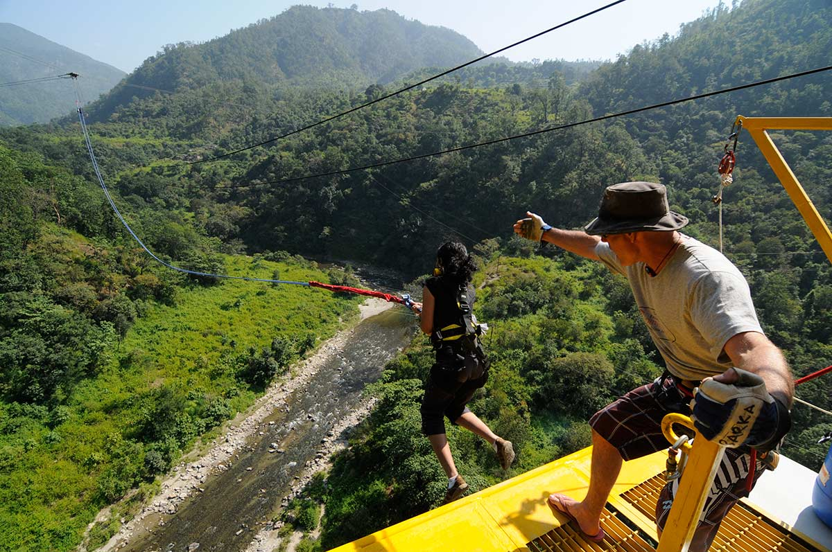 Rishikesh Bungee Jump Flying Fox Giant Swing Jumpin Heights Adventure Ganges