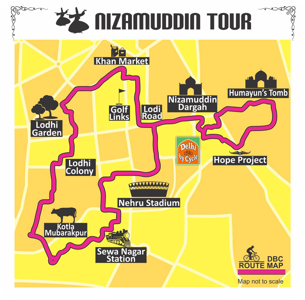 Cycling Delhi City tour Adventure Nizamuddin
