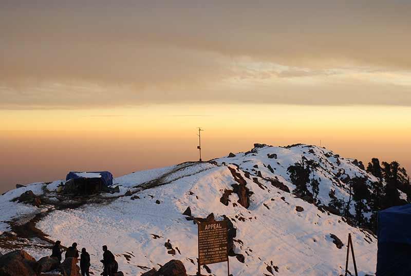 Triund Snow Trekking Himalayas McLeod Ganj Adventure Uttarakhand