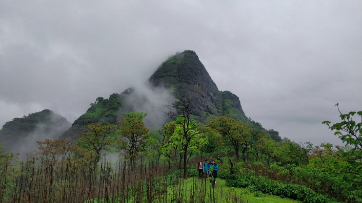 Manikgad trek Maharashtra Mumbai Trekking Adventure Travel Destinations Mountains