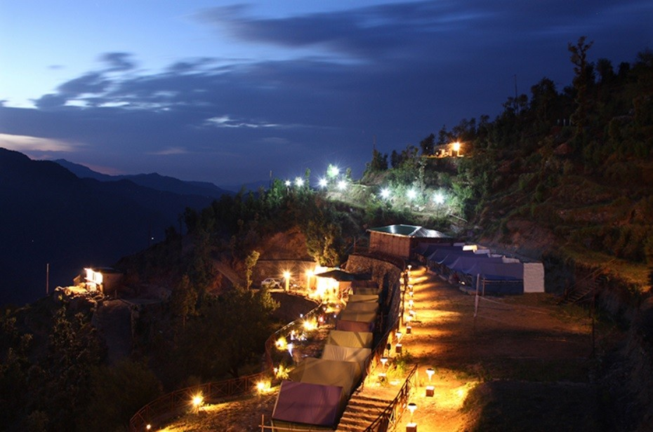 Camping Swiss Tent Kanatal Uttarakhand Adventure Activity Sports