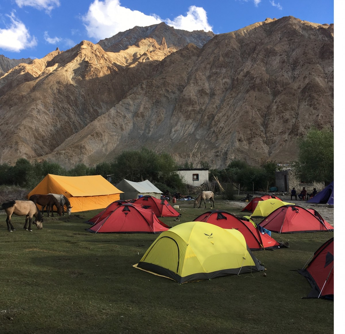 Camping Markha Valley Ladakh Mountains Adventure Activity Sports Snow Fun