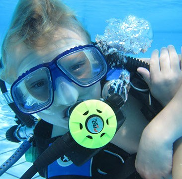 Scuba Diving Kids PADI Bali Bubblemaker Indonesia Adventure Travel The Great Next