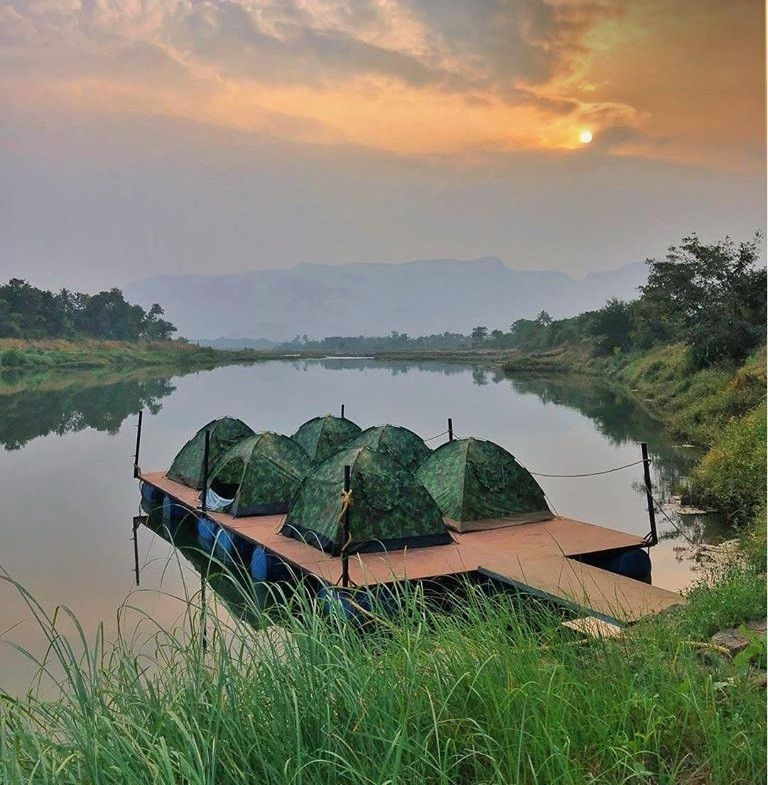 Floating Tent Camping Karjat Mumbai Pune Maharashtra Western Ghats The Great Next