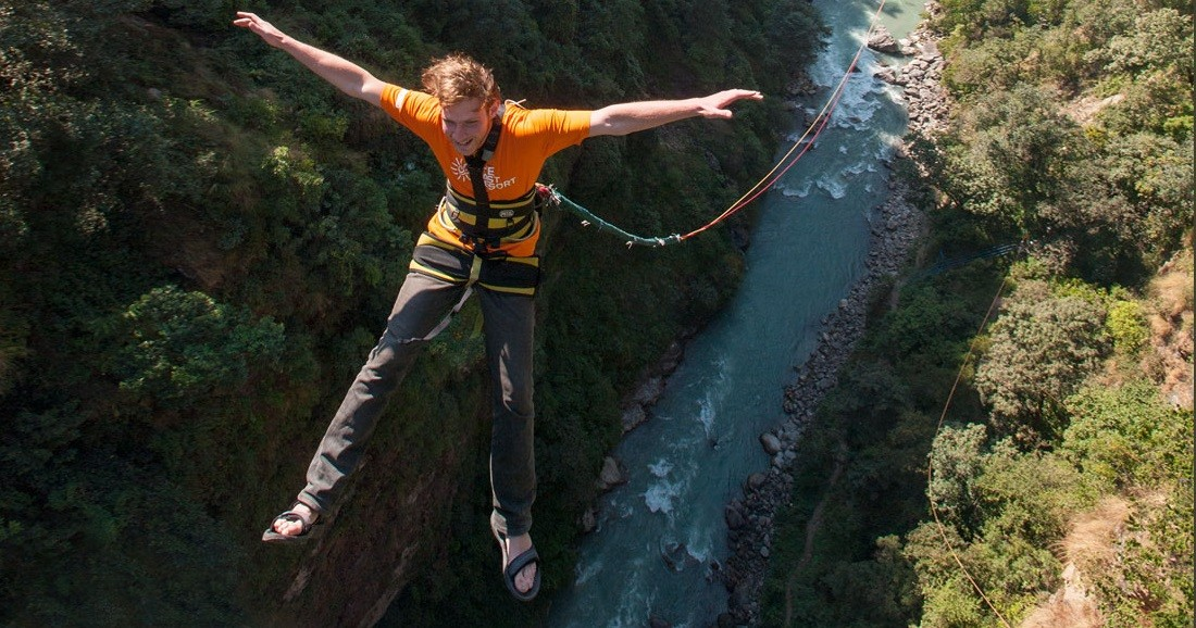 Bungee Jump Giant Swing Nepal Kathmandu Adventure Travel The Great Next