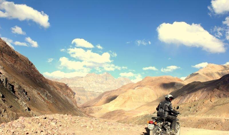 Motorcycling Ladakh Himalayas Mountains Adventure Activity Sports