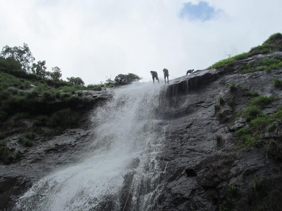 Rappelling Waterfall Diksal Maharashtra Adventure Travel The Great Next