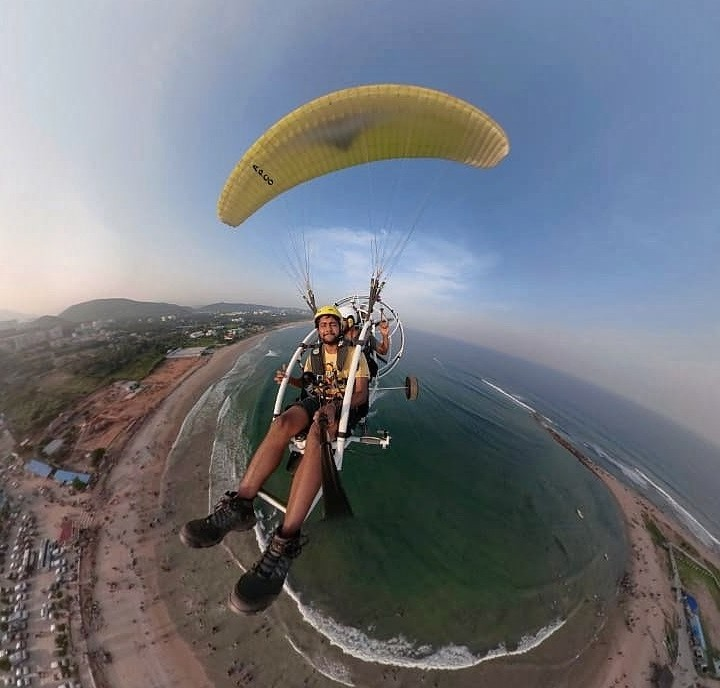 Paramotoring Vizag Andhra Pradesh Visakhapatnam Adventure Travel The Great Next