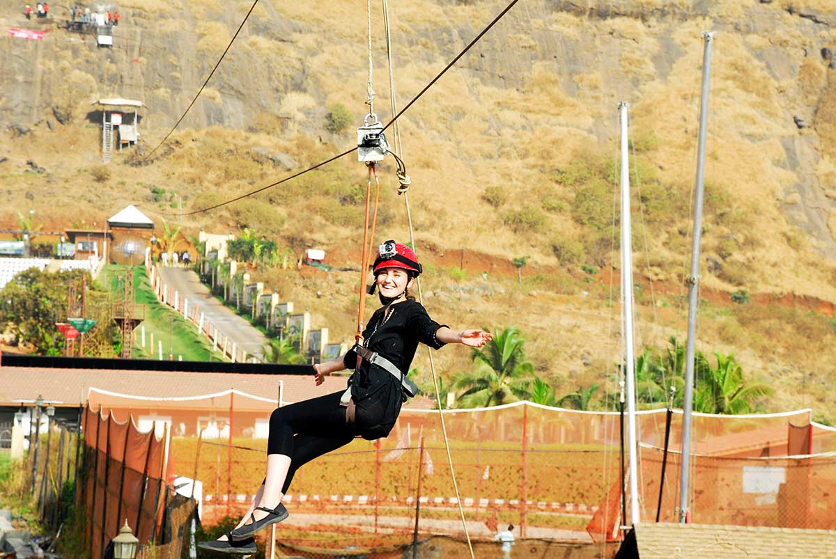 Adventure Escape Della Adventure Zorbing Rock Climbing Lonavala Ziplining Weekend