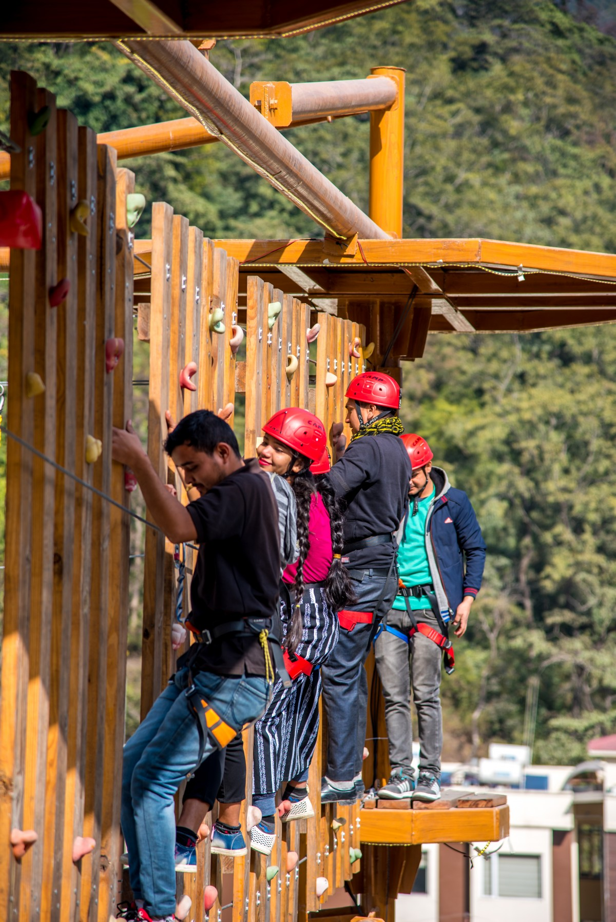 Reverse Bungee High Low Ropes Course Rishikesh Uttarakhand Thrill Factory Park Adventure Travel The Great Next