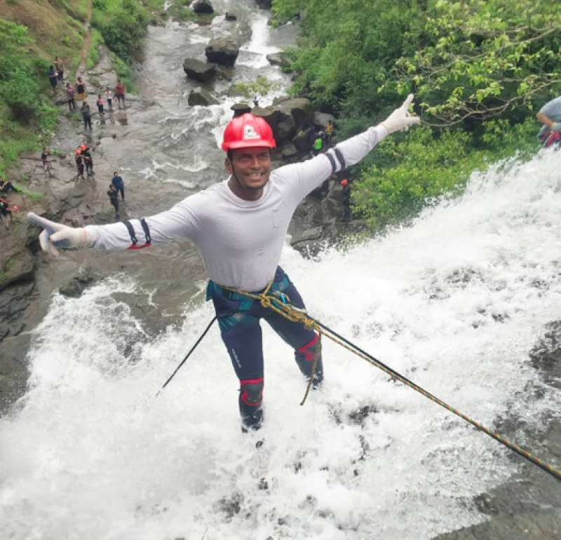 Bhivpuri Bekre Waterfall Rappelling Maharashtra Mumbai Nature Trekking Adventure Activity Travel Destinations