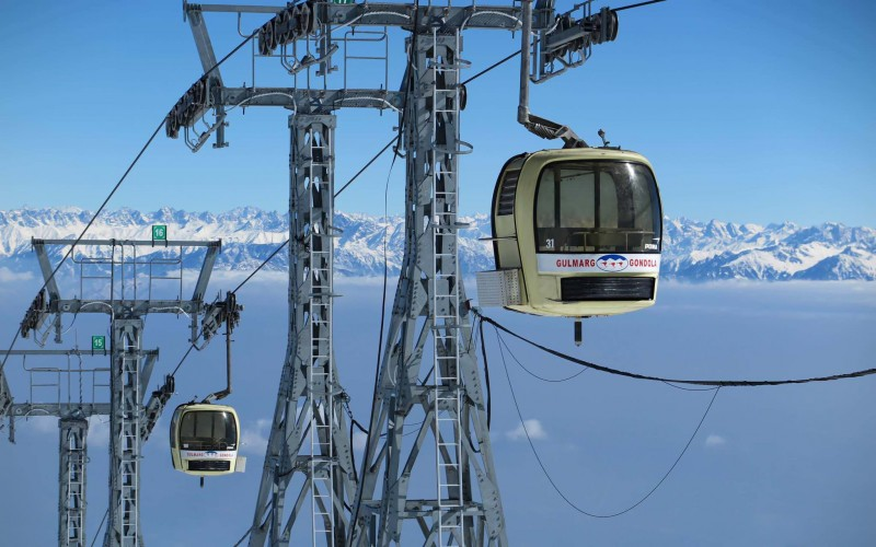 Skiing Course Gulmarg Jammu Kashmir Adventure Travel The Great Next